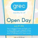 GREC Open Day June 2016